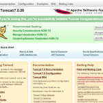 Default page fter starting Tomcat